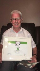 Fingal Volunteer Awards Winner Billy Bebbington